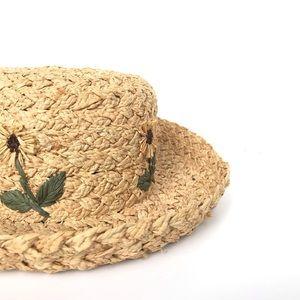 GAP 90's Floral Straw Hat Blossom VSCO Daisy